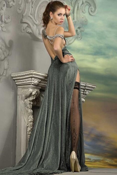 Ballerina Luxusní samodržící punčochy J.Collection 211 černá S/M