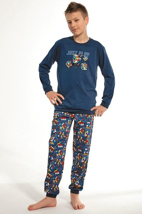 Cornette Chlapecké pyžamo Cube jeans 158/164