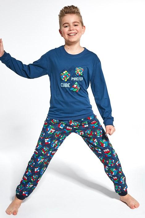 Cornette Chlapecké pyžamo Cube Master tmavěmodrá 98/104