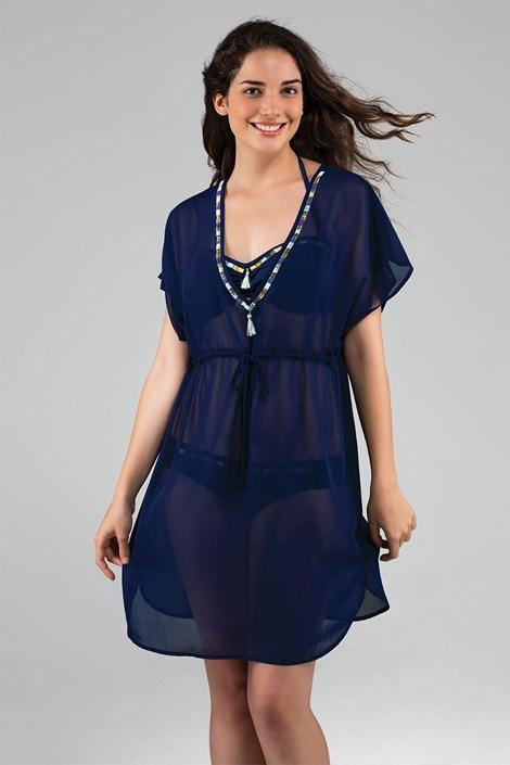 Dorina Plážové šaty Maldives modrá XXL
