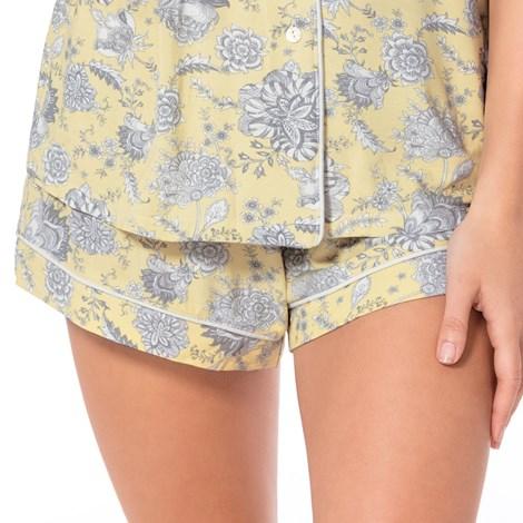Dorina Dámské pyžamové šortky Stephanie žlutá XS