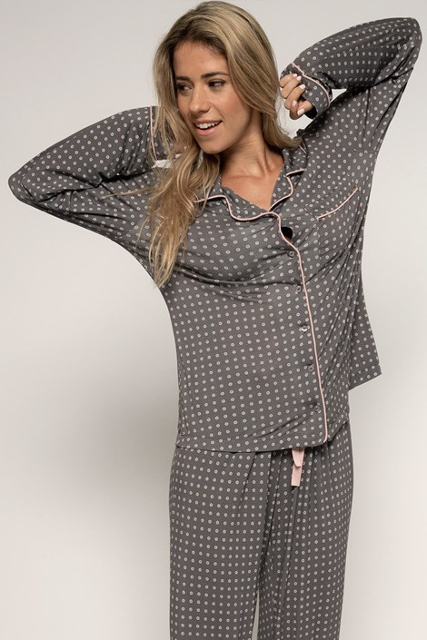 Dorina Dámský pyžamový kabátek Esme barevná XXL