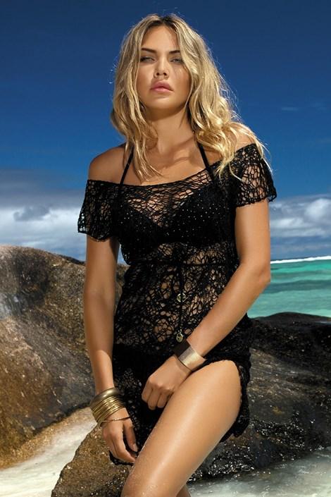Etna Plážové šaty Claire černá 42
