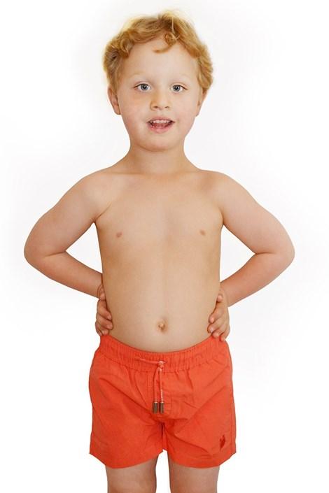David 52 Chlapecké plavky Leonard Red oranžová 8