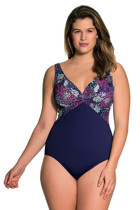 Dorina Jednodílné dámské plavky Paradise Purple barevná 3XL