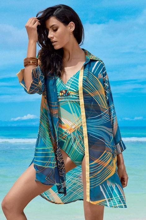 David Mare Dámské letní košilové šaty Claudia barevná L