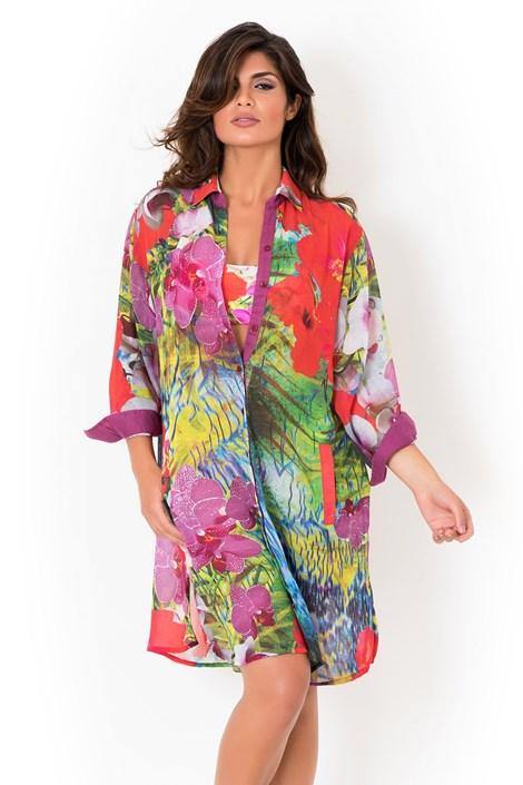 David Mare Dámské italské plážové košilové šaty David Mare Playa barevná S