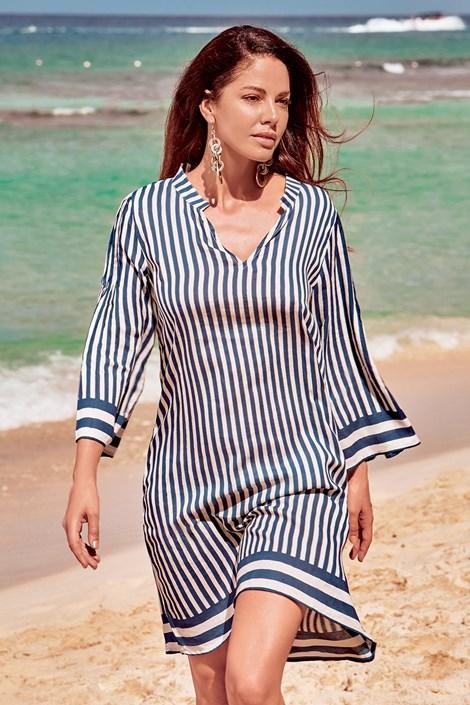 David Mare Dámské plážové šaty Lisa bílomodrá XL