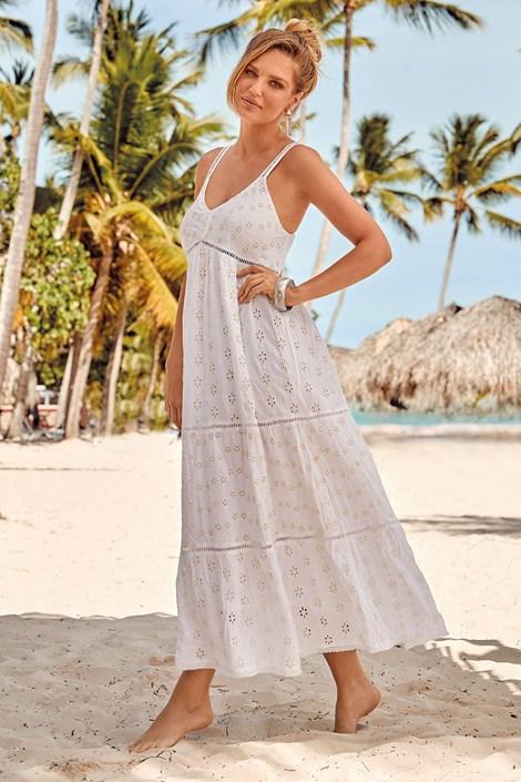David Beachwear Plážové šaty Cipro bílá S