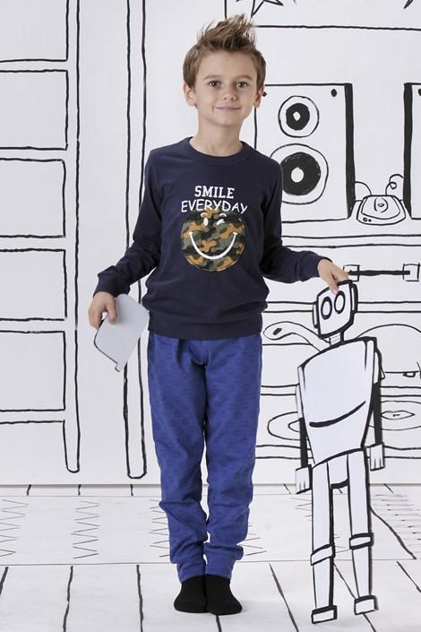 COTONELLA Chlapecké pyžamo Smile everyday modrá 9/10