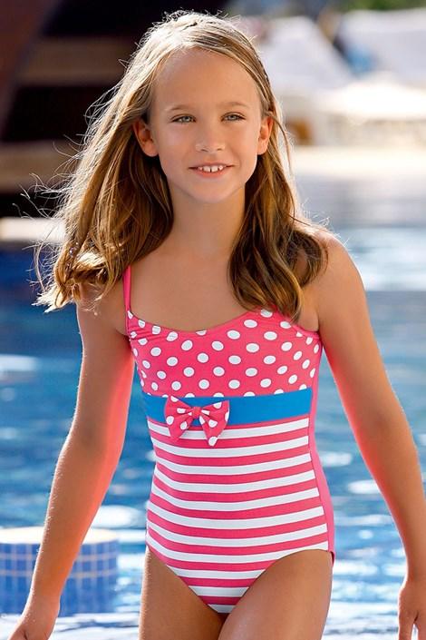 LORIN Dívčí plavky Nataly DB3 růžová 122