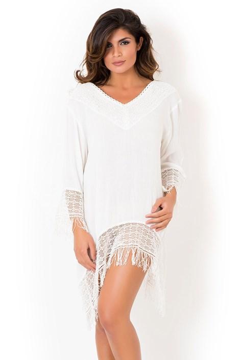David Beachwear Dámské italské letní šaty David Beachwear Delhi bílá S