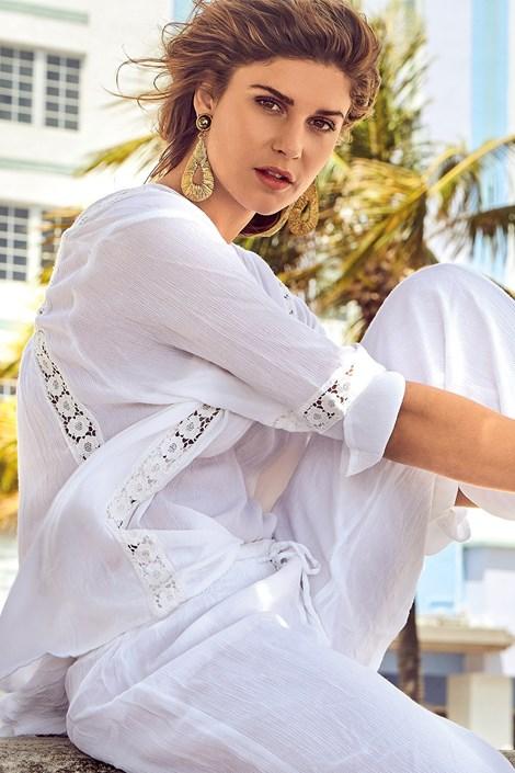 David Beachwear Dámská italská tunika David Beachwear Delhi bílá S