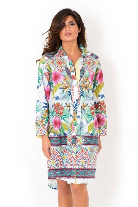 David Beachwear Dámské italské  košilové šaty David Beachwear Rajasthan barevná M