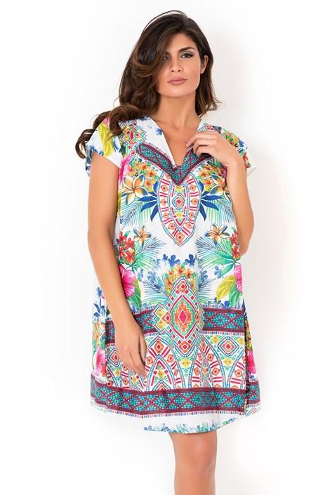 David Beachwear Dámské italské plážové šaty kolekce David Beachwear Rajasthan barevná S