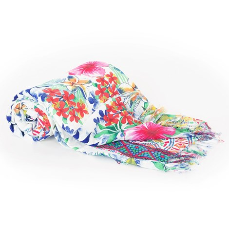 David Beachwear Plážová deka italské značky David Beachwear Rajasthan 180x100cm barevná uni