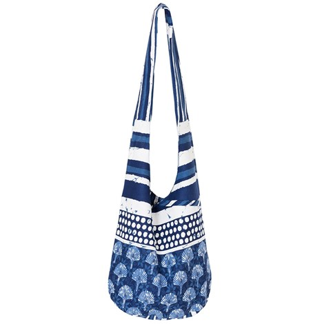David Beachwear Plážová taška italské značky David Beachwear kolekce Pamir modrobílá uni