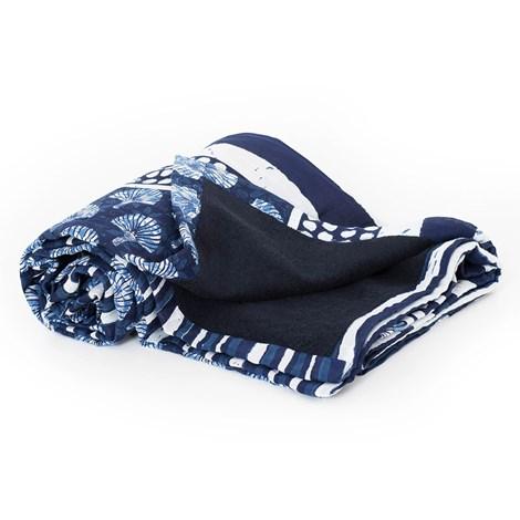 David Beachwear Plážová deka italské značky David Beachwear Pamir 135x97 cm modrobílá uni