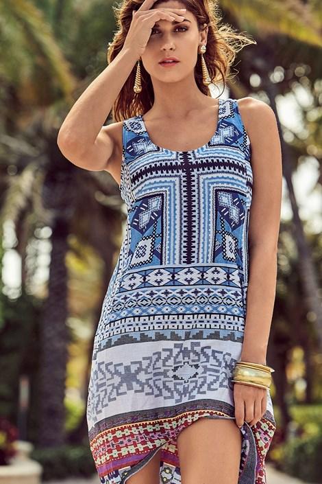 David Beachwear Dámské italské letní šaty David Beachwear Gujarat barevná S