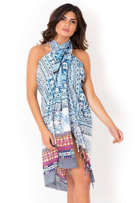 David Beachwear Plážový šátek,pareo italské značky David Beachwear kolekce Gujarat 180x110cm barevná uni