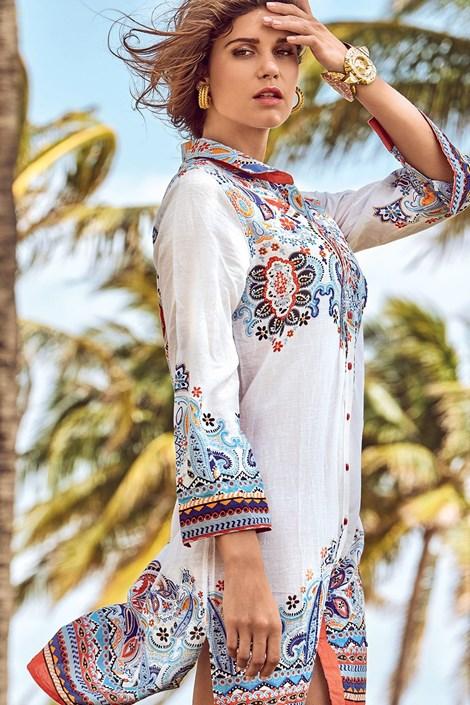 AFS Dámské letní košilové šaty David Beachwear Jaipur barevná XL