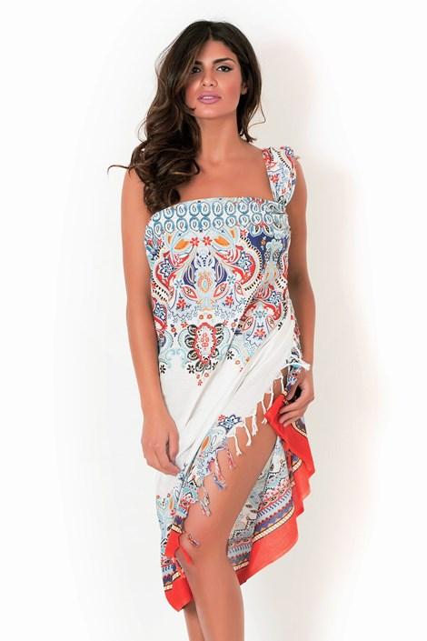 David Beachwear Plážový šátek,pareo italské značky David Beachwear Jaipur 180x106cm barevná uni