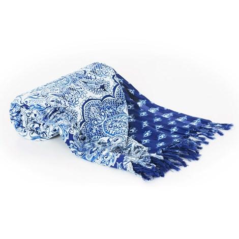 David Beachwear Plážová deka italské značky David Beachwear, Kerala 180x100cm modrobílá uni