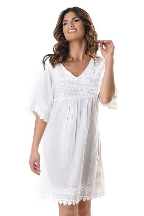 David Beachwear Dámské plážové šaty Verona bílá XL