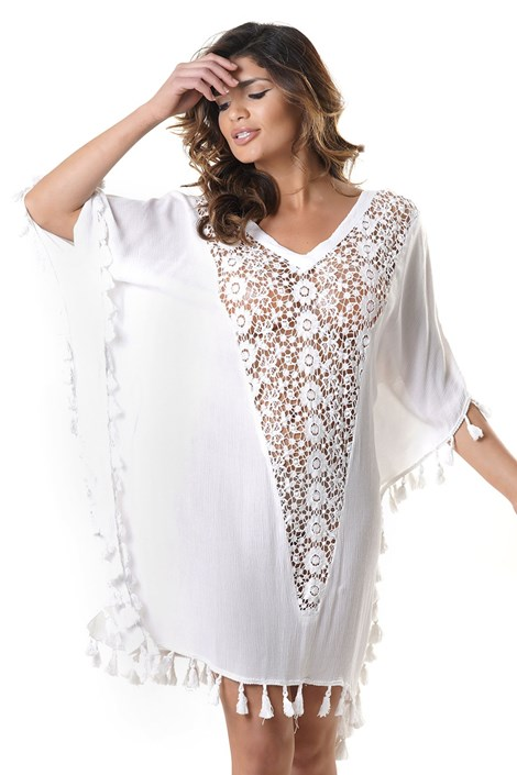David Beachwear Dámské plážové šaty Anita bílá uni