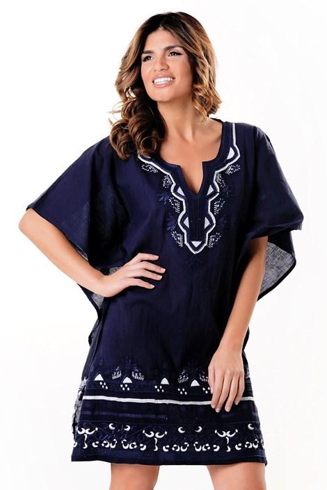David Beachwear Dámské plážové šaty Casablanca modrobílá uni