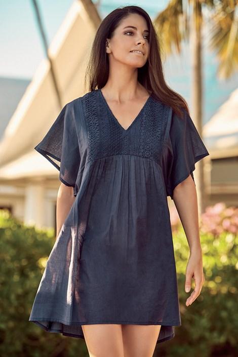 David Beachwear Dámské plážové šaty Debora tmavěmodrá XXL