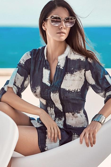 David Beachwear Dámské plážové šaty Noemi modrobílá L
