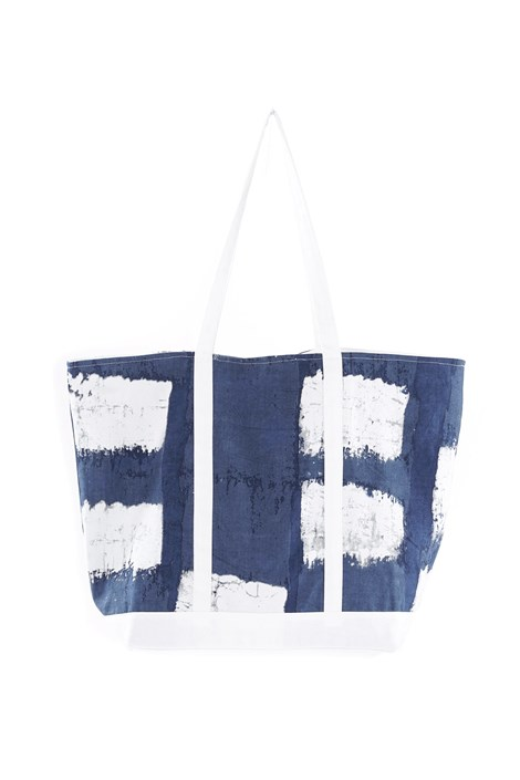 David Beachwear Plážová taška Valeria modrobílá uni
