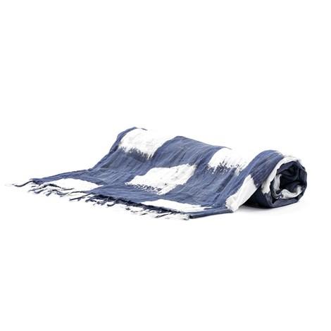 David Beachwear Plážová osuška Noemi modrobílá uni