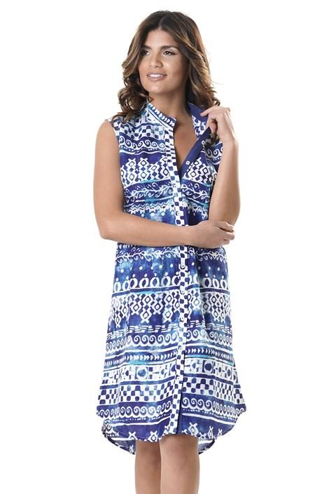 David Beachwear Dámské plážové šaty Valentina modrobílá XXL