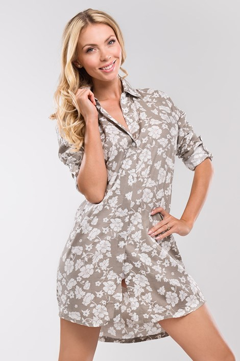 COTONELLA Dámská košile Natali béžová béžovobílá XL