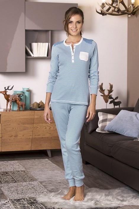 COTONELLA Dámké pyžamo Janine modrá L