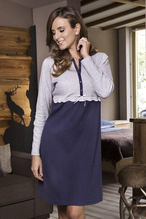 COTONELLA Dámská noční košile Caroline modrošedá XL