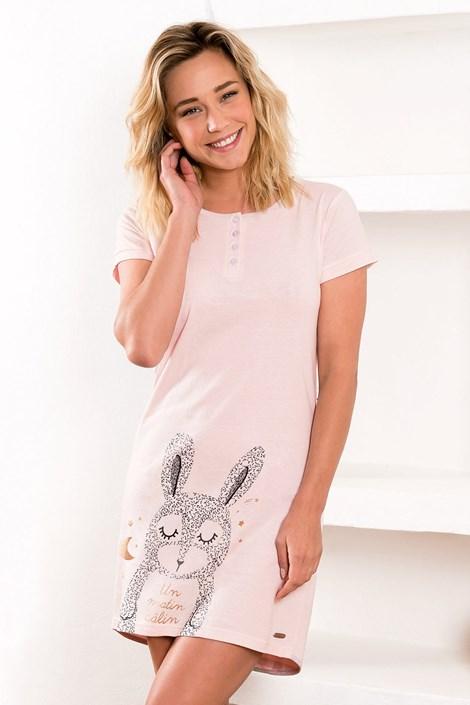 Dodo Dámská noční košilka Calin růžová XL