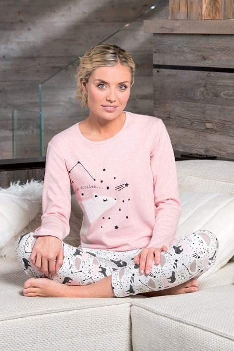 Dodo Dámské pyžamo Polaire růžovobílá XL
