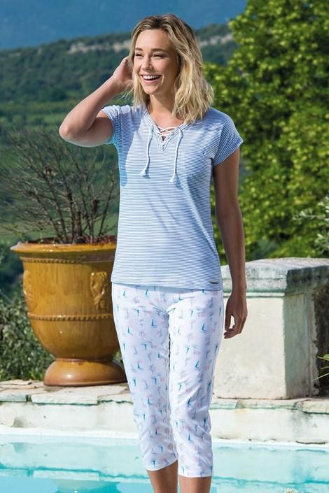 Dodo Dámské pyžamo Voiliers bílomodrá XL