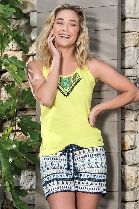 Dodo Dámské pyžamo Etno krátké žlutá L