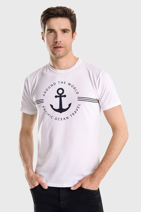 Bílé tričko David 52 Captain Blues