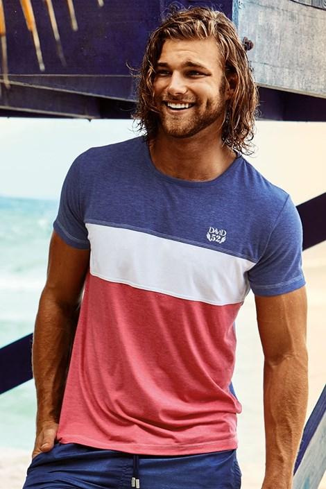 David 52 Pánské tričko DAVID 52 Clark barevná S