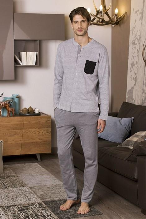 COTONELLA Pánské pyžamo COTONELLA Abele šedá XL