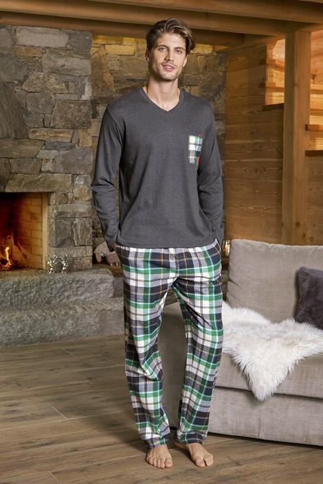 COTONELLA Pánské pyžamo COTONELLA Achille vícebarevná M