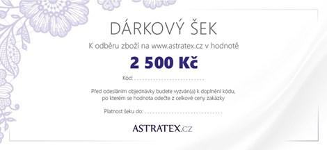 Astratex Tištěný dárkový šek 2500 - -