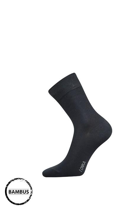 Lonka Bambusové ponožky Debob tmavěšedá 35-38