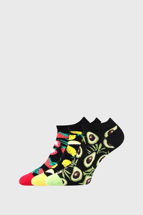 3 PACK dámských ponožek s ovocem