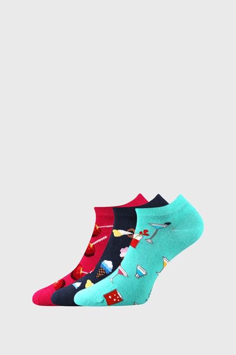 Lonka 3 PACK dámských ponožek se sladkostmi mix 35-38